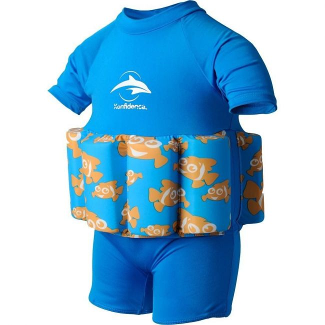 Konfidence Float Suit Buoyancy Aid for Swimming with Removable Floats Clownfish