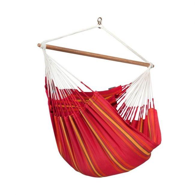 La Siesta - Currambera Cotton Lounger Hammock Chair Cherry - Red