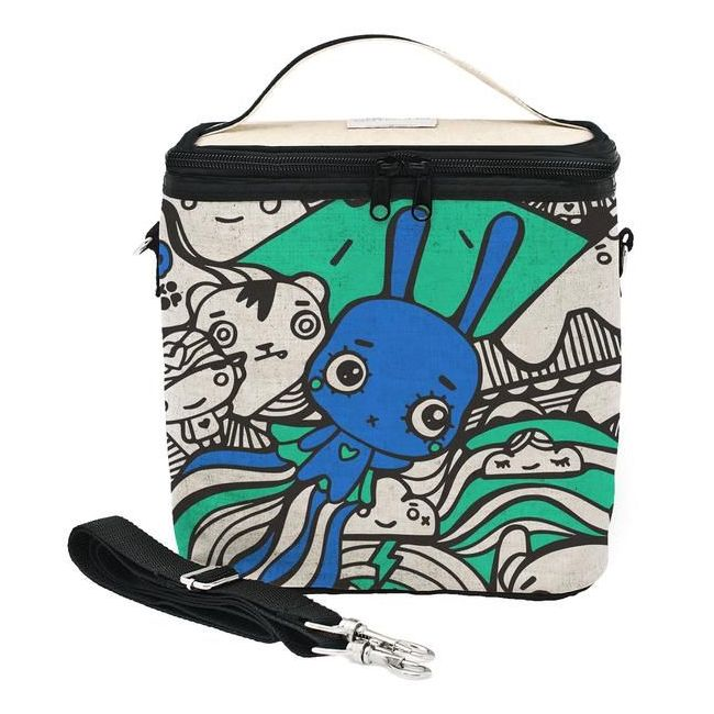 SoYoung Raw Linen Pixopop Flying Stitch Bunny Large Cooler Bag