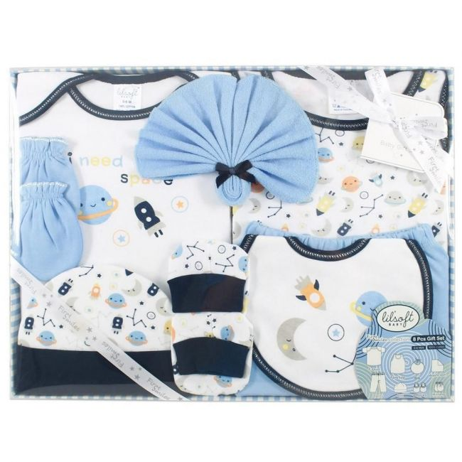 Lilsoft New Born I Need Space Baby's Clothing Gift Set Box For Boys