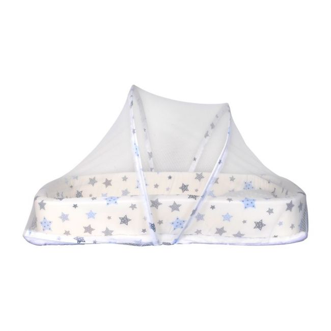 Little Angel - Baby Bed with Comfy Paddings - White