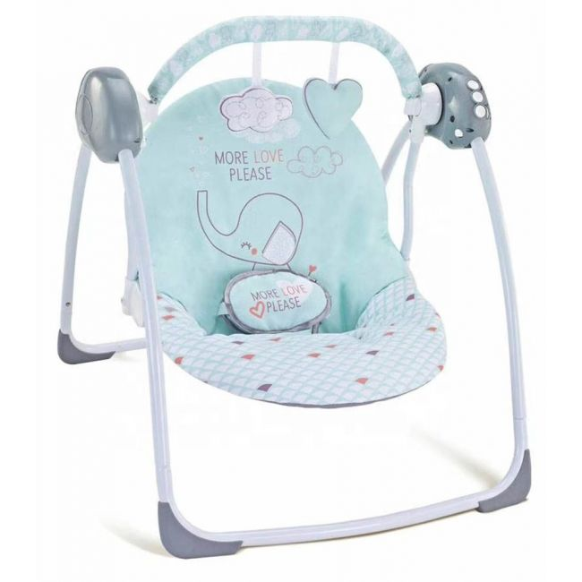 Fitchbaby - Baby Swing Electric Portable Automatic - Blue