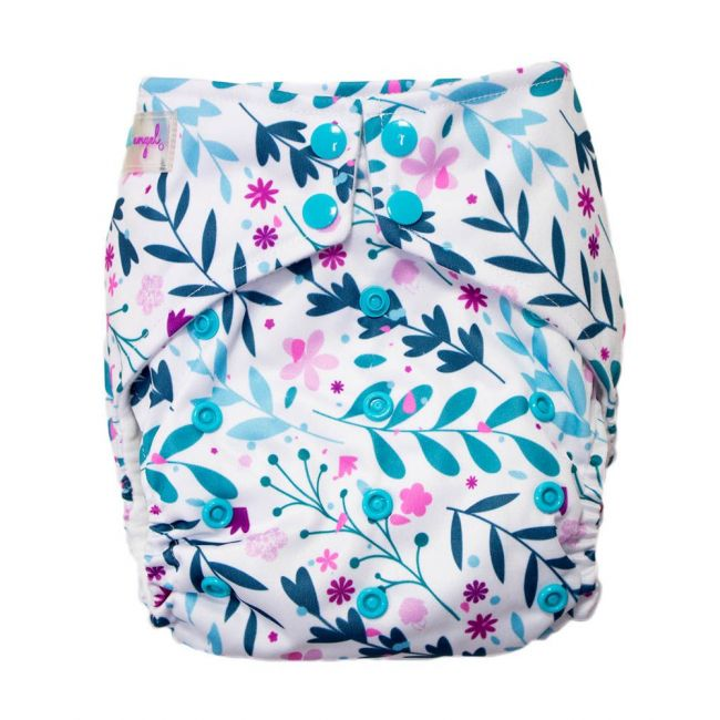 Little Angel - Baby Pocket Cloth Diapers All In One Reusable Leaves