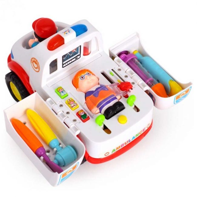 Little Angel Baby Toys 2-in-1 Ambulance Doctor Vehicle Set