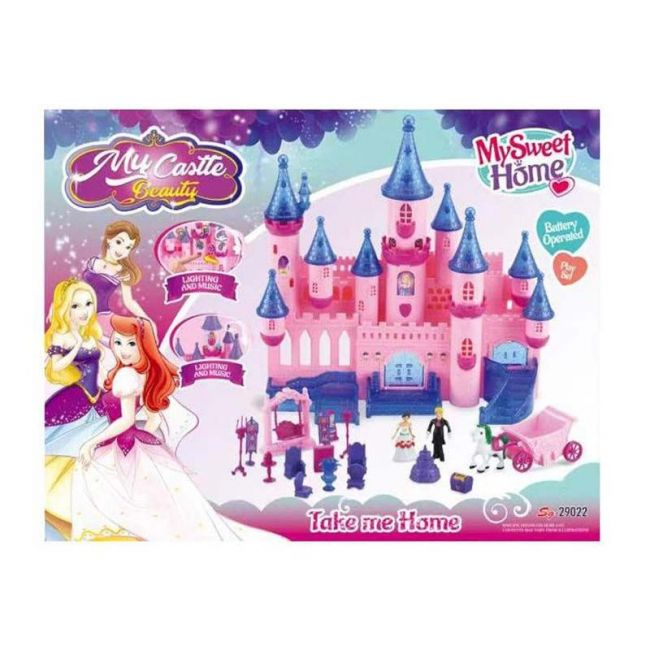 Little Angel - Baby Toys My Sweet Home Blue Pink Castle