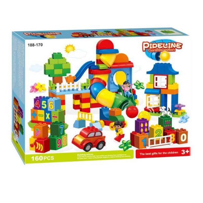 Little Angel - Baby Toys Pipeline Construction Blocks 160Pcs