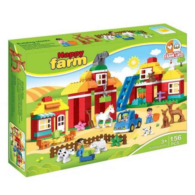 Little Angel Happy Farm Building Blocks 156Pcs