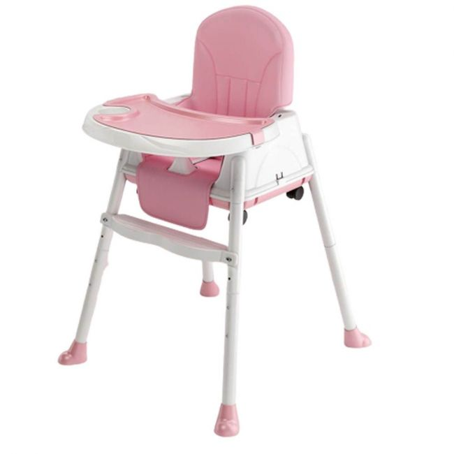 Little Angel - High Chair For Babies And toddlers 3 in 1 Multifunctional Dining Pink