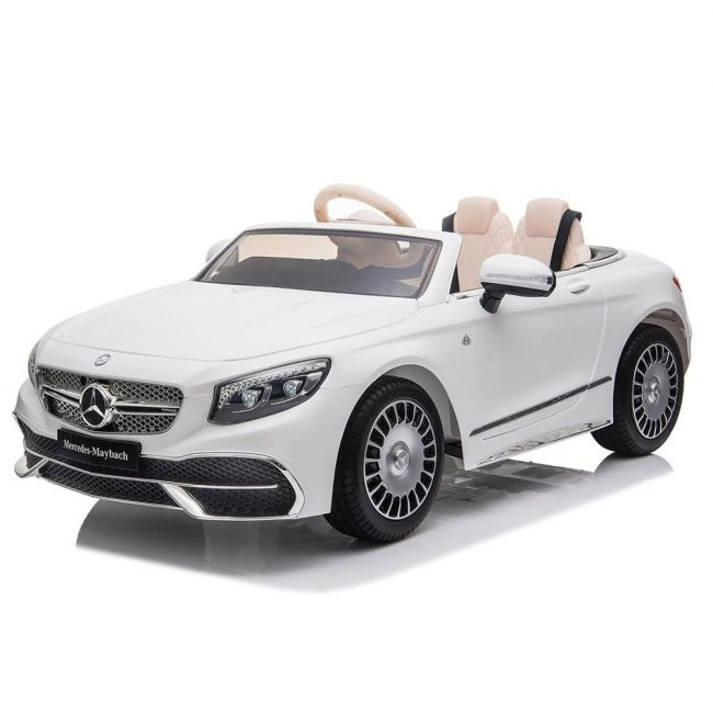 Little angel - Kids Cars Mercedes Maybach S650 Licensed Ride-On Car - ZB188-WHITE