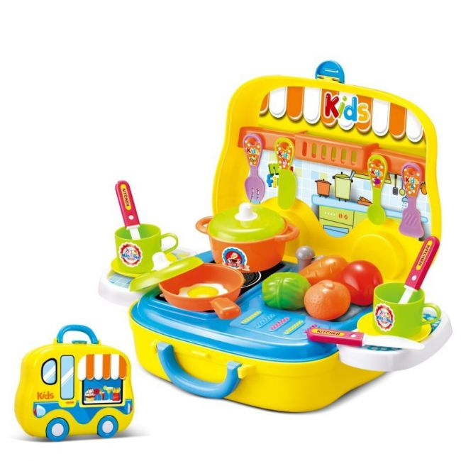 Little Angel - Kids Toys Kitchen & Cooking Food Set - Yellow