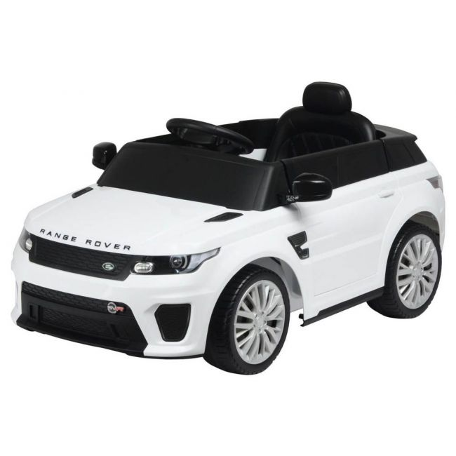 Little Angel - Land Rover Range Rover Svr Electric Ride On Toy Car - White