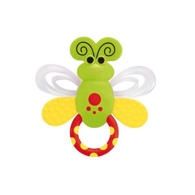 Little Angel - Rattle and Teether - Red/Green Butterfly