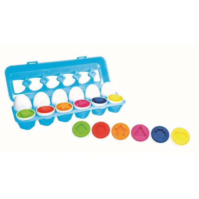 Little Hero - Match & Count Eggs Multicolour - 12 Pieces