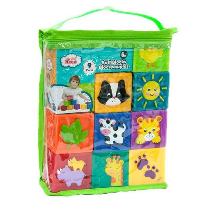 Little Hero Soft Blocks with color deco - 9pcs
