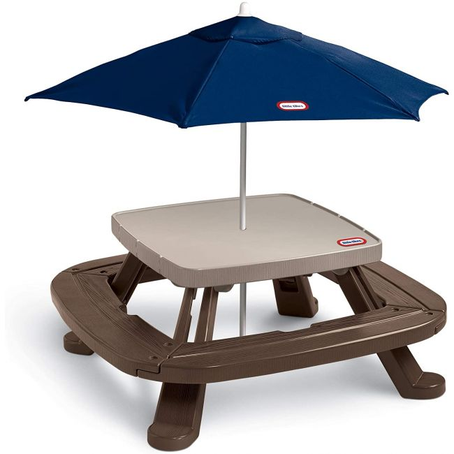 Little Tikes - Fold n Store Picnic Table With Market Umbrella