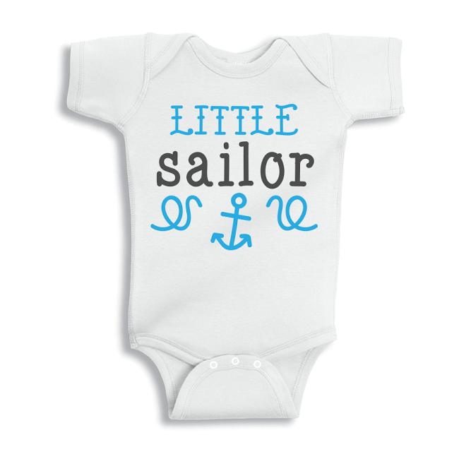 Twinkle Hands Little Sailor Baby Onesie