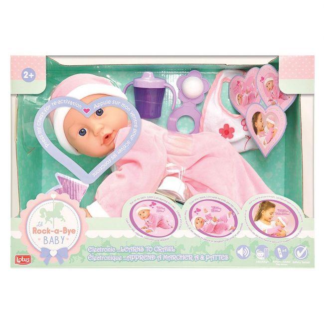 Lotus - Electronic Soft Bod Crawling Baby Doll 45Cm
