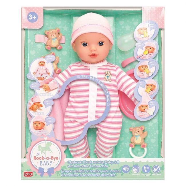 Lotus - Electronic Touch Sensing Doll 38 Cm Pink