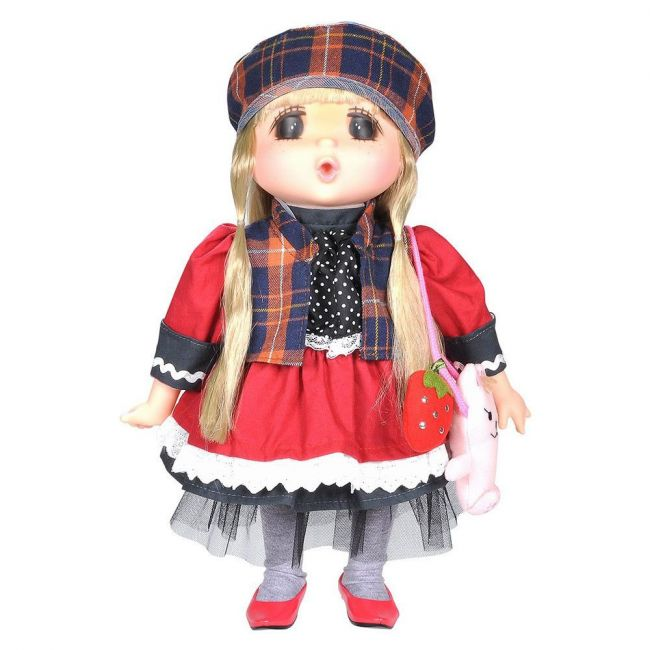 Lotus - Gege Soft Bodied Akiba Brunette Girl Doll 15 Red
