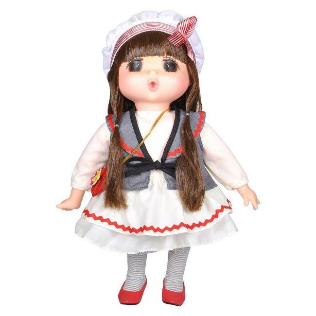 Lotus - Gege Soft Bodied Akiba Brunette Girl Doll 15 White