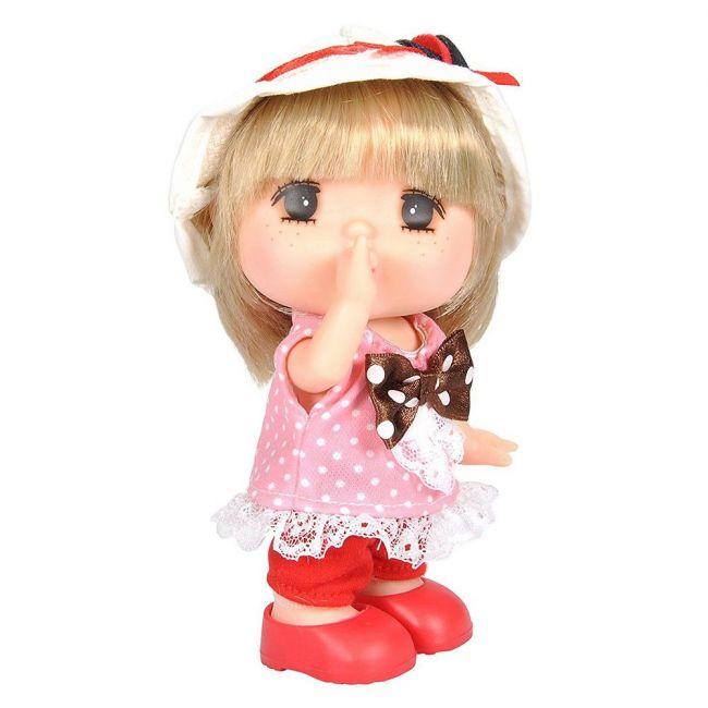 Lotus - Gege Vinyl Bodied Mini Blonde Girl Doll 6 Pink