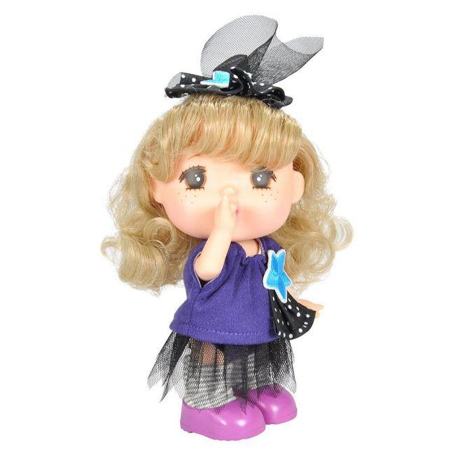 Lotus - Gege Vinyl Bodied Mini Blonde Girl Doll 6 Purple