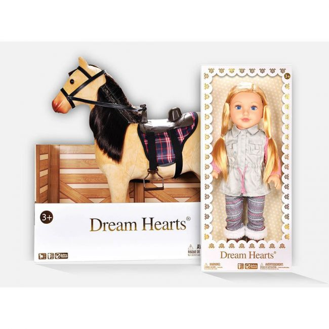 Lotus - Horse Set With Free Equestrian Outfit Set And Free Soft Bodied Poseable Girl Doll Lilybeth