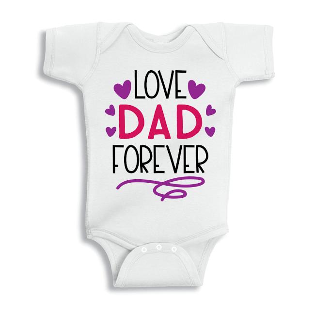 Twinkle Hands Love dad forever Baby Onesie, Bodysuit, Romper
