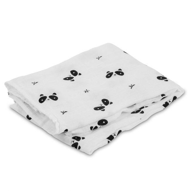 Lulujo Bamboo Swaddle Blanket - Panda
