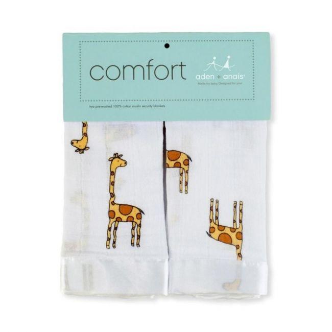 Lulujo 2-pack Muslin Security Blanket - Giraffes