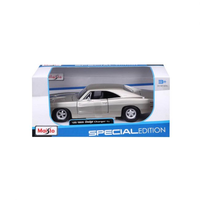 Maisto - 1 25 Scale Special Edition 1969 Dodge Charger R T Grey