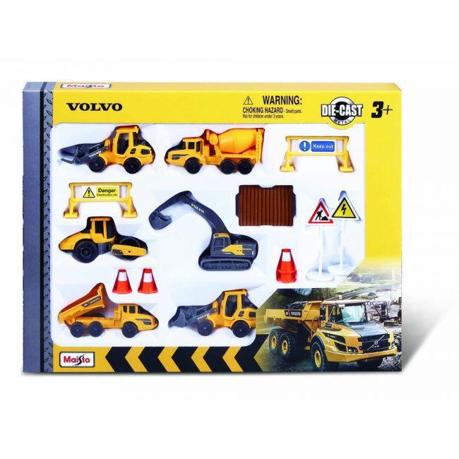 Maisto - Fresh Metal 3 Volvo Play Set 6 Pcs X 3 Volvo Construction Vehicles