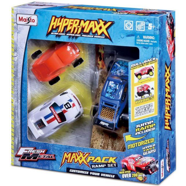 Maisto - Fresh Metal Hyper Maxx Multi Pack Pull Back Vehicles