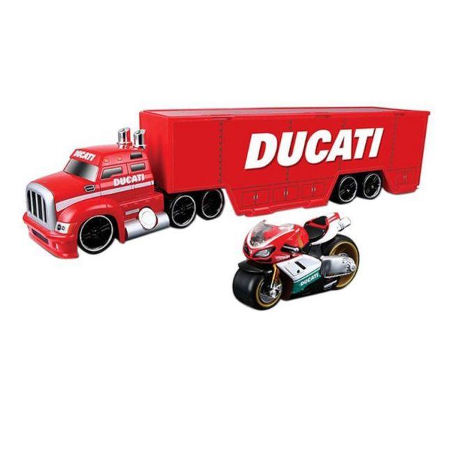 Maisto Tech Ducati Hauler+ Ducati Racer Toy Set