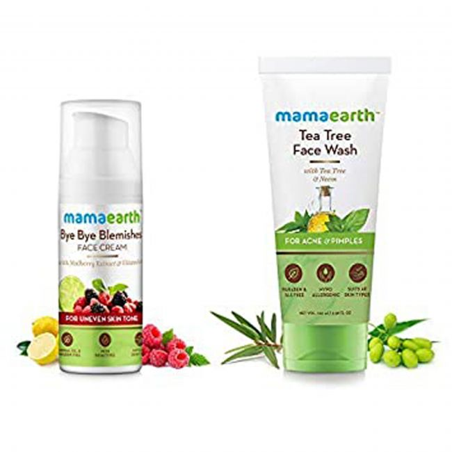 Mama Earth - Bye Bye Blemishes 50 Ml 100 Tea Tree Face Wash For Mama 100 Ml