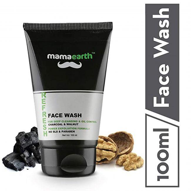 Mama Earth - Charcol Walnut Face Wash