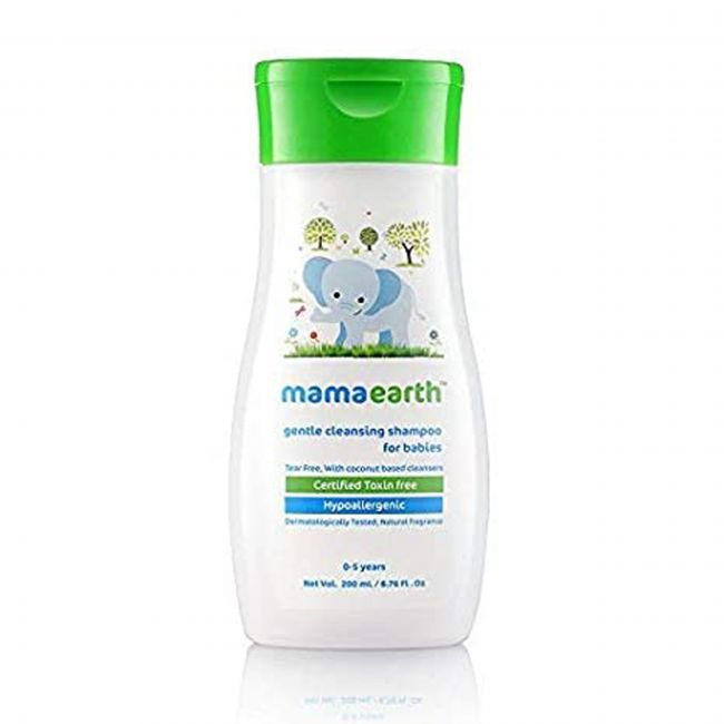 Mama Earth - Gentle Cleansing Shampoo 200 Ml Moisturizing Daily Lotion For Babies 200 Ml