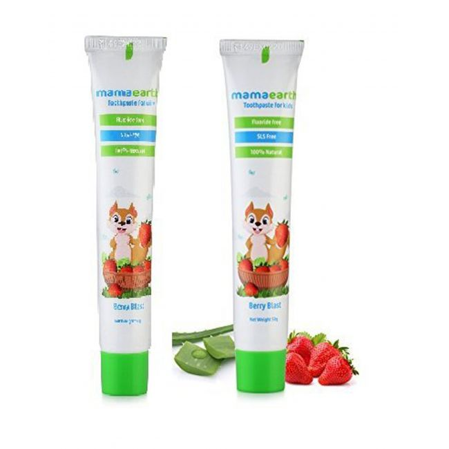Mama Earth - Natural Berry Blast Kids Tooth Paste 50G Pack Of 2