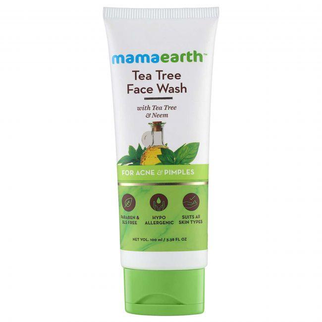 Mama Earth - Tea Tree Face Wash For Mama 100 Ml
