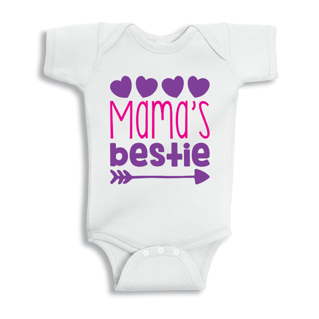 Twinkle Hands Mama's Bestie Baby Onesie, Bodysuit, Romper