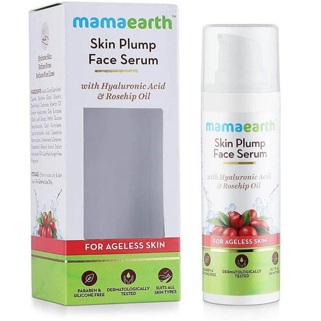 Mamaearth - Skin Plump Serum For Face Glow With Hyaluronic Acid & Rosehip Oil 30Ml