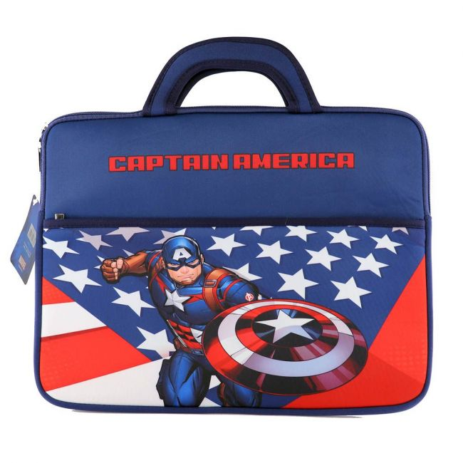 Marvel - Avengers Captain America Printed Laptop Case With Handle 15 Inch