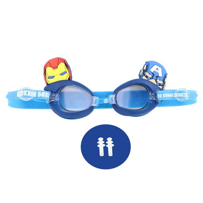 Marvel - Avengers Kids 3D Swim Goggle With Free Ear Plug & Pvc Case