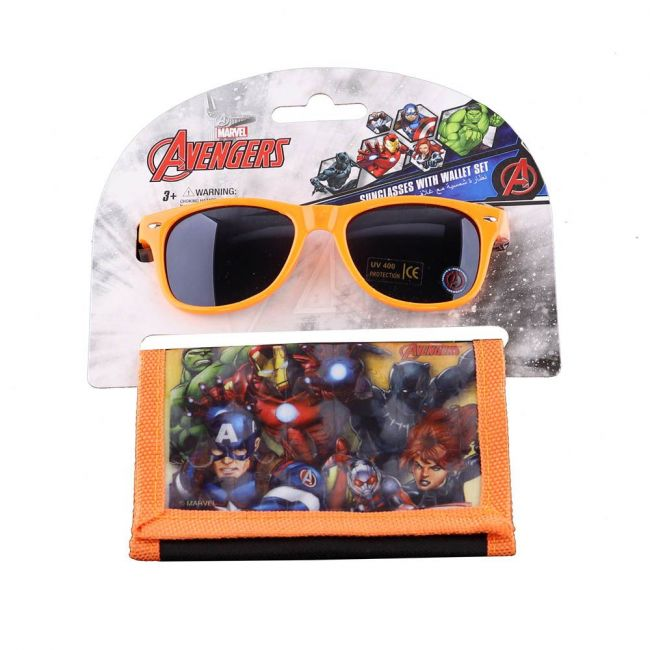 Marvel - Avengers Kids Boys Sunglasses With Wallet Set