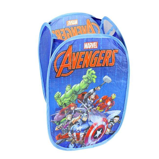 Marvel - Avengers Laundry Toys Washing Tidy Bin Storage Pop Up Basket Kids Bag