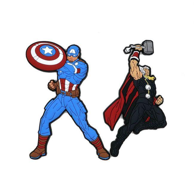 Marvel - Avengers Pack Of 2 Soft Pvc Fridge Refrigerator Magnet
