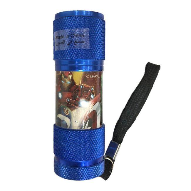 Marvel - Avengers Portable Led Torch Flashlight Includes Wrist Strap Blue