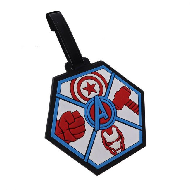 Marvel - Avengers Soft Pvc Character Luggage/Suitcase/Backpack Tags
