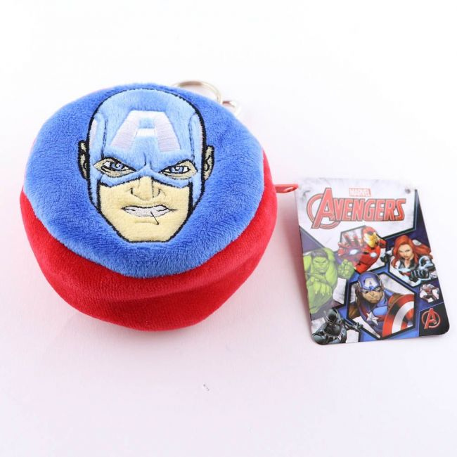 Marvel - Captain America 3D Pouch Coin Key Chain Velvet Pouch