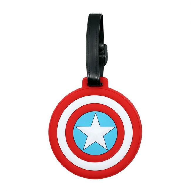 Marvel - Captain America Soft Pvc Character Luggage/Suitcase/Backpack Tags